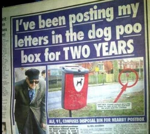 Dog Poop Mailbox 500x447