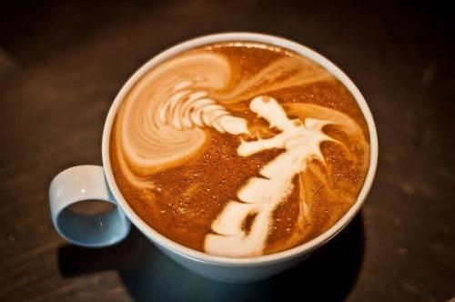 Dragon Coffee Art