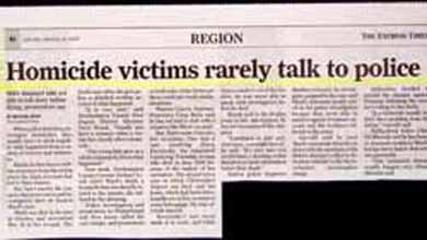 Homicide Victims Rarely Talk