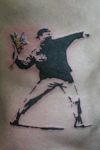 Banksy Tattoo Flowers