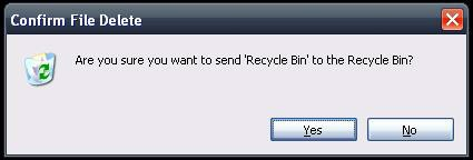 Recycle Bin Error