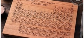 Hand-Carved Periodic Table Cutting Board