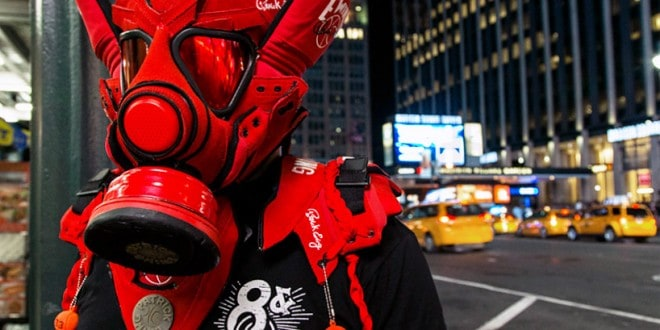 Gas Masks Made Out of Rare and Retro Sneakers
