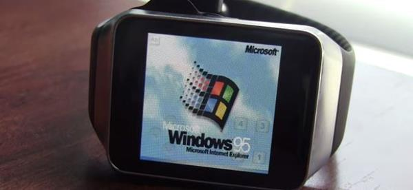 De-Evolution: Windows 95 Running on a Smartwatch