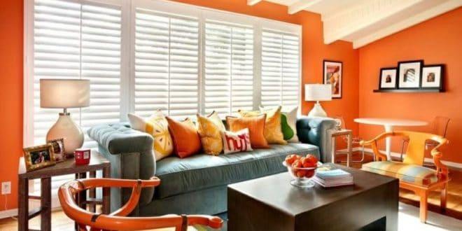 ecstatic-orange-living-room
