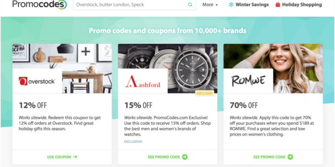 Promocode site