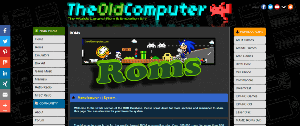 Old computer ROMs