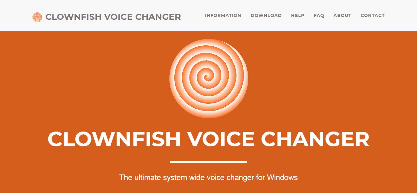 Clown Clownfish Voice Changer