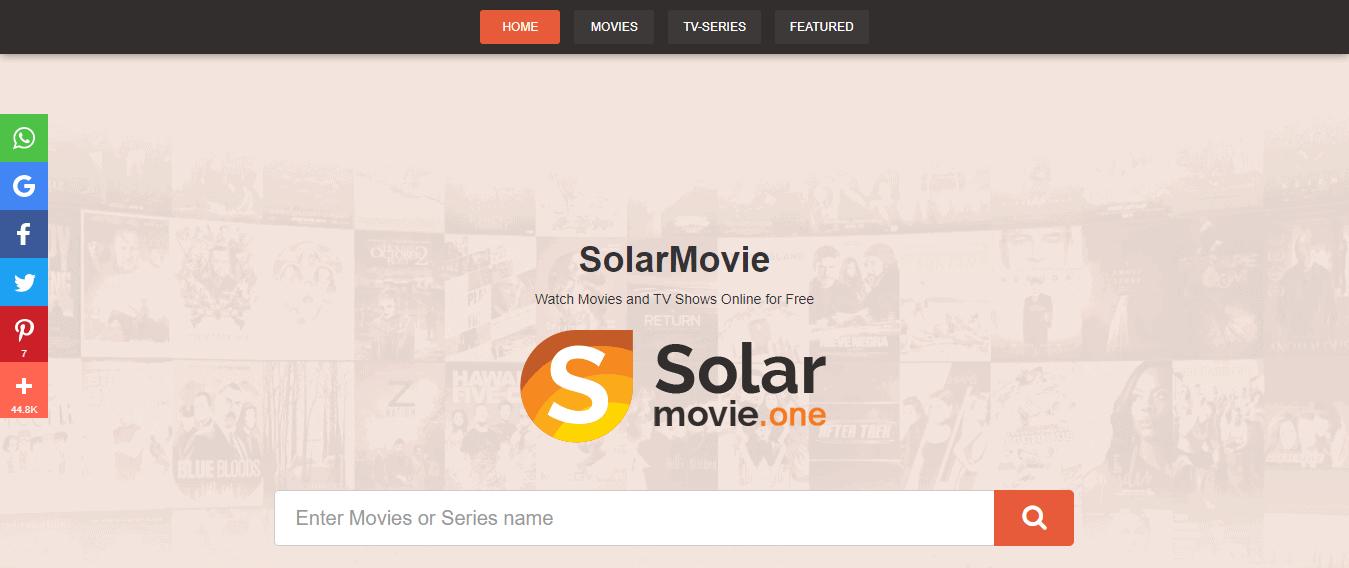 Watch movies on SolarMovie