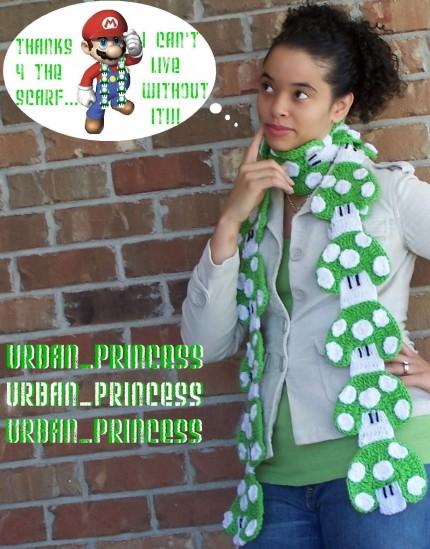 super mario mushroom scarf