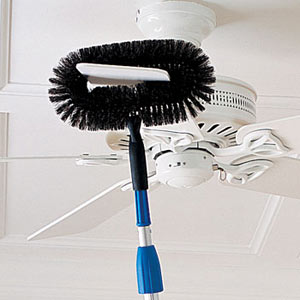 Ceiling fan duster keeps you safe on the ground gearfuse we usually have our ladies do all the cleaning for us since we seem so incapable of doing so ourselves those damn people at brookstone are trying to ruin aloadofball Choice Image