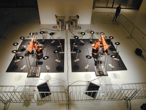 kuka industrial robotic dj