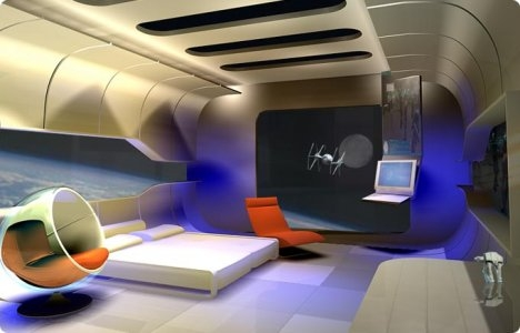 Ramada theme rooms spell out the future of hotel for Outer space bedroom design