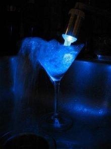 blue led faucet light