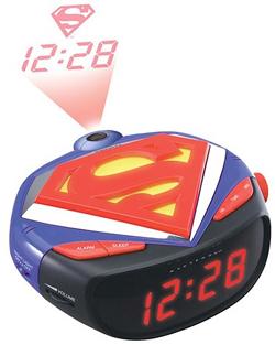 superman am/fm clock radio
