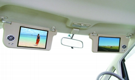 Car visor tv screens