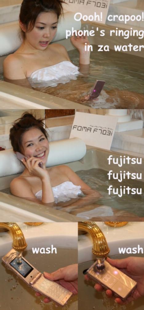 fujitsu water-proof f703i